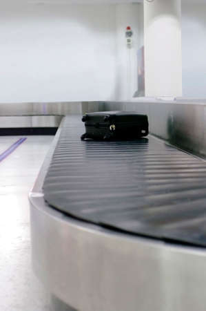 bag belt at airport Stock Photo