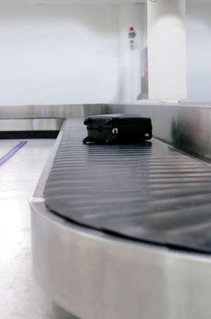 bag belt at airport photo