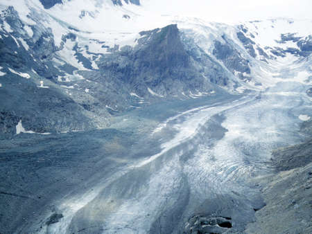The Gorner Glacier, majestic view in Switzerland Stock Photo