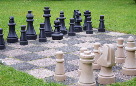 king size: life size chess in the garden