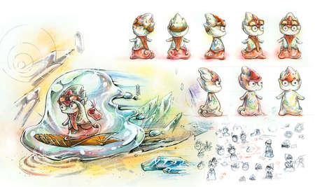 ameba: Comic character design sketch
