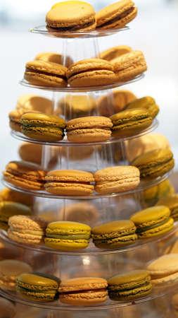 coloful: macaron coloful dessert, french icon
