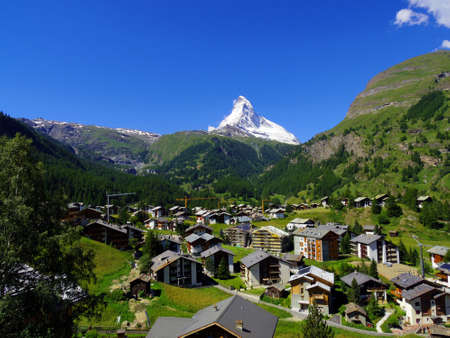 Zermatt Switzerland, green car-free city photo