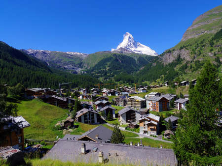 Zermatt Switzerland, green car-free city Reklamní fotografie