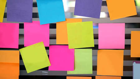 blank notes on the wall with copy space