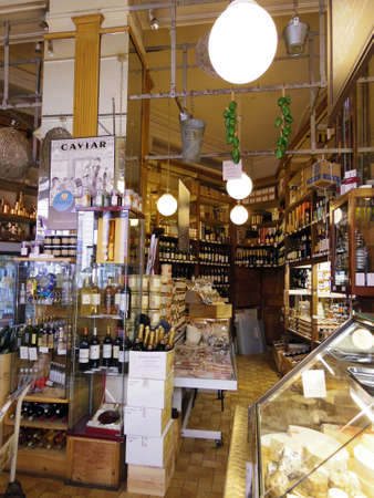 france grocery shop vintage style classic