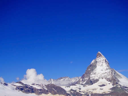alpine zone: Zermatt Switzerland, green car-free city Stock Photo