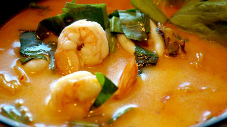 sour grass: tom yum kung soup, delicious spicy Thai food Stock Photo