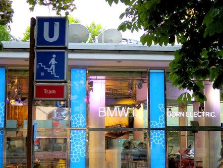 i3: Munich, Germany- July 2014 - BMWi signage at showroom building