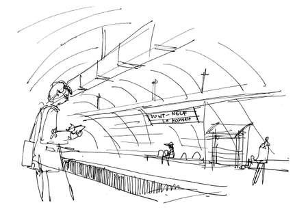underground: underground metro paris hand sketch