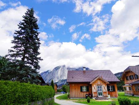 Blockhaus, auf dem Land sceneic in Europa, die Schweiz Standard-Bild