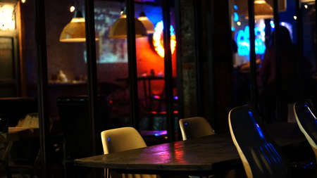 hang out: Abstract pub abd bar restuarant for night life party hang out