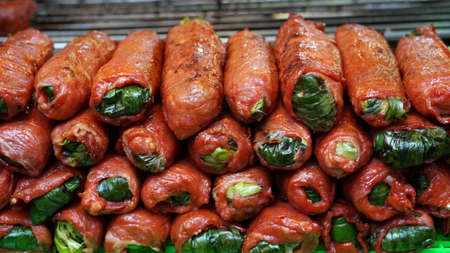 taiwanese: Taiwanese aboriginal cuisine, Pork sausage with vegetable inside