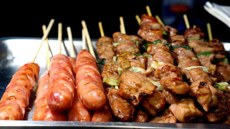 Taiwanese aboriginal cuisine, Pork sausage  barbeque skrewer