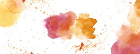 tone on tone: Warm tone watercolour splash spot background white copy space