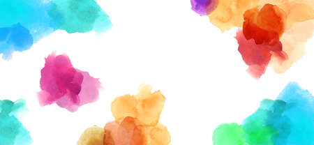 watercolour: colorful spotty watercolour illustration painting copy space
