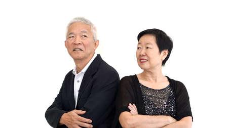 formal attire: Asian senior partner dress in formal attire. Love life family business concept