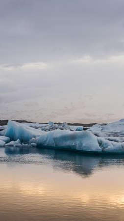 Stunning glacier lagoon of Iceland. Majestic nature beauty Stock Photo