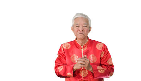 Asian Chinese senior Chinese new year celebration