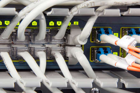 Datacenter gigabit ethernet hightech high availability and performance switch photo