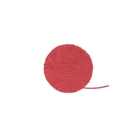 ball of thread isolated illustration on a white background in cartoon style. Design element