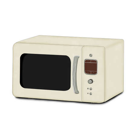Microwave for design. Illustration on a white background.. Фото со стока