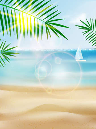 Seaside view poster вуышпт. EPS10 Иллюстрация