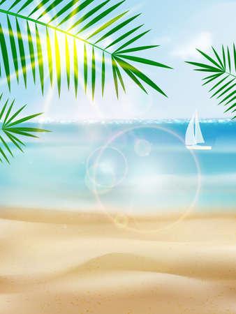 Seaside view poster вуышпт. EPS10 Illustration
