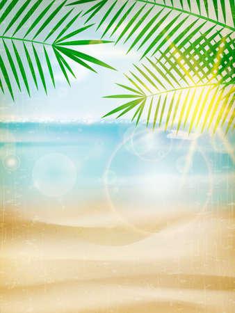 Vintage seaside view poster. EPS10 Illusztráció