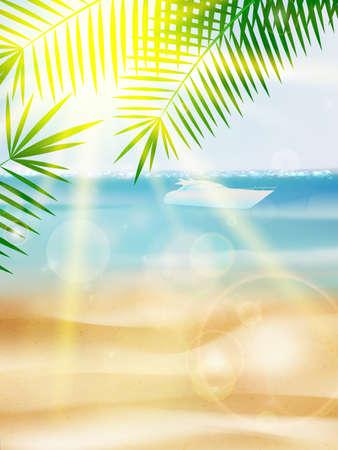 Beautiful Seaside View Poster. EPS10 Illustration
