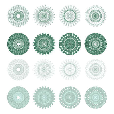 High quality rossete vector elements for diploma or certificate. Vector EPS+