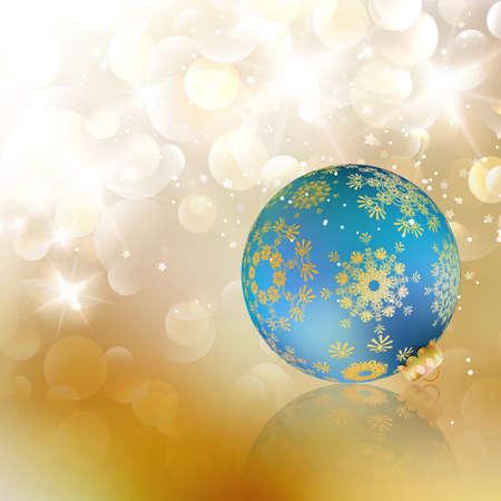 hristmas: ?hristmas ball on abstract light background. EPS10 Illustration