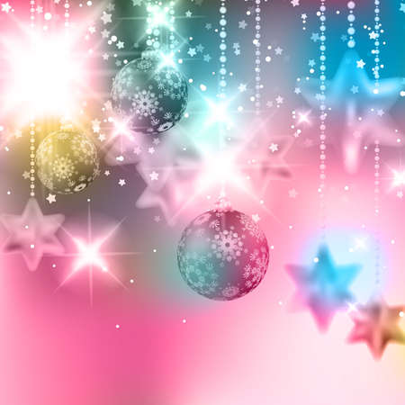 Christmas background with baubles. EPS10