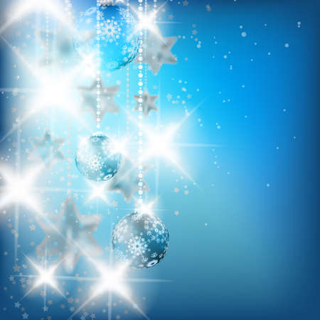 Blue Christmas Background. EPS10 Vector