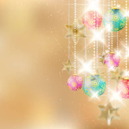Christmas background with baubles. EPS10 Vector