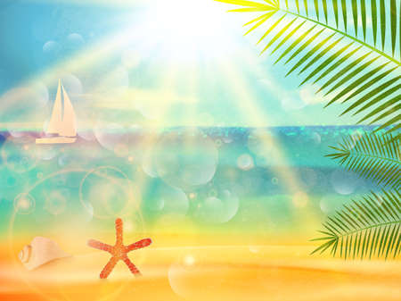 Seaside view poster design.