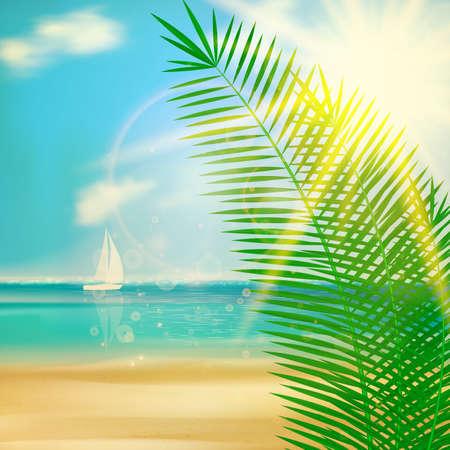 sand asia: Tropical beach template design.