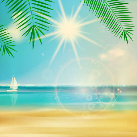 Vintage summer beach design. Vector