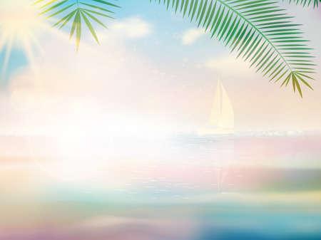 untouched: Untouched tropical beach design template. EPS10