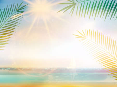samui: Palm and tropical beach design template. EPS10