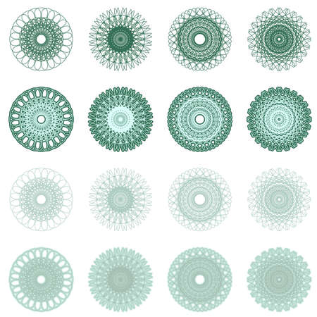 High quality rossete vector elements for diploma or certificate  Vector