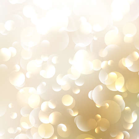 Golden Abstract Bokeh Background.  Illustration