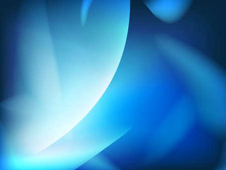 Abstract blue background, futuristic wavy.   Illustration