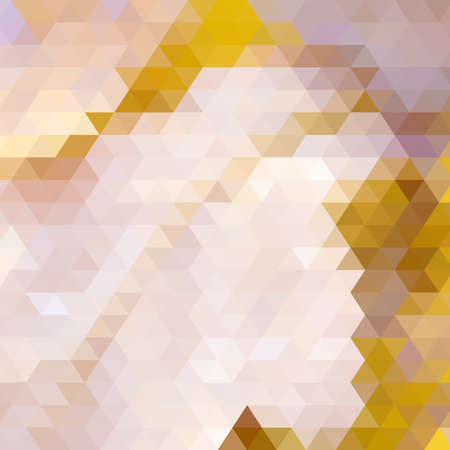 Autumn colorful background made of triangles. Square composition with geometric shapes.  Vector