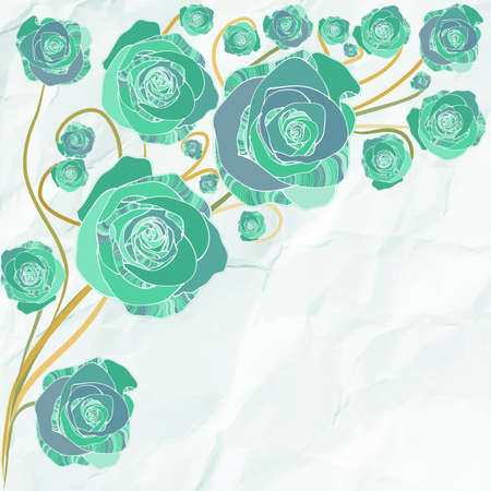 Retro flowers vector illustration template Vector