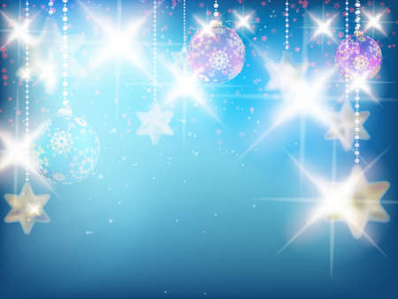 Christmas decoration Background with stars. Vector