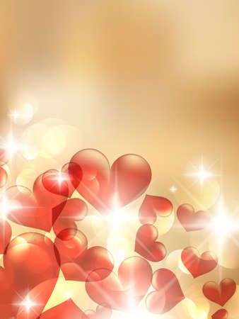 Valentine bokeh light background. EPS10 Vector