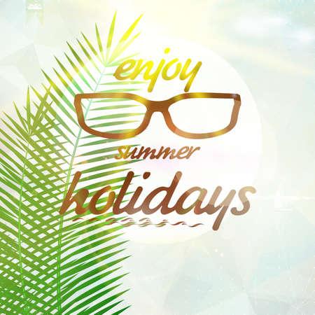 summer sky: Summer sky with sun wearing sunglasses  EPS10 Illustration