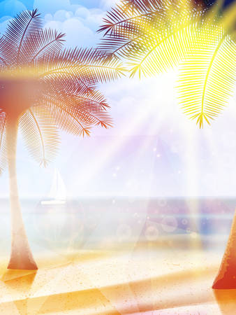 Summer hot holidays poster template  EPS10 Vector