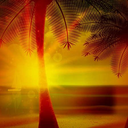 gold coast: Sunset on the beach of sea